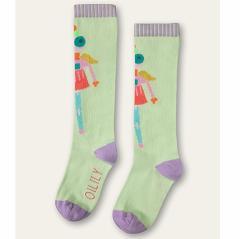 40%OFFセール オイリリー 公式 キッズ 女の子 ハイソックス 靴下グリーン ロボットエンジェル 運動会 目立つ13-24cm