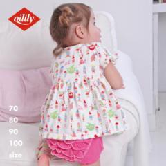オイリリー 公式 ベビー服 子供服 キッズ ワンピース  夏 半袖 かわいい 日本製  綿100 おしゃれ ギフト
