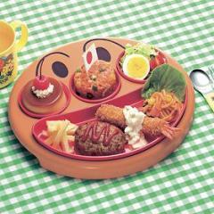 ランチプレート フェイスランチ皿  お子様ランチ アンパンマン 子供用 キャラクター ( お皿 プレート 子供用食器 ベビー食器 あん