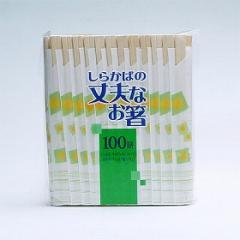 割り箸 白樺の丈夫なお箸 100膳(割箸)