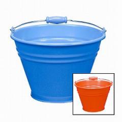 カラーバケツ 8型  ブルー/レッド ( ばけつ 掃除 清掃 )