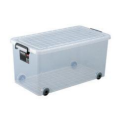 収納ボックス 押入れ用 インロック350M 3個セット ( キャスター コロ付き 衣装ケース 送料無料 フタ付き 収納ケース プラスチック 蓋付
