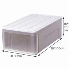 特価 押入れ衣装ケース たっぷり収納ケース 66M ( 収納ケース 引き出し プラスチック 収納ボックス 収納BOX 衣類収納 ロングタイプ 引出