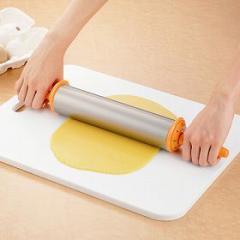 めん棒 アルミローリングめん棒 厚さ調節目盛り付き 製菓道具