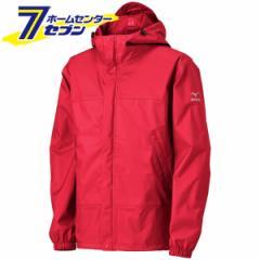アクアブロックレインジャケット レッド S B2JE0A0162 ミズノ [ユニセックス レインウェア アウトドア キャンプ 釣り 登山 合羽 雨具 防