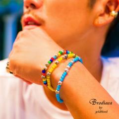 ブレスレット メンズ ブレス バングル カラフル アクセサリー trend_d ファッション シルバー