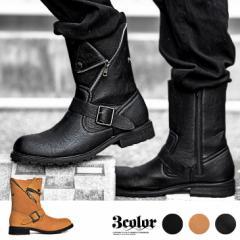 ブーツ メンズ エンジニアブーツ ライダース シューズ 靴 レザー スウェード オシャレ trend_d