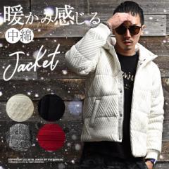 ジャケット メンズ 中綿ジャケット 中綿ブルゾン ブルゾン アウター ニットジャケット ニット ケーブルニット ボア trend_d