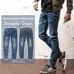 デニム メンズ デニムパンツ スキニー ストレート ストレッチ タイト 細身 カットデニム S XL メンズファッション trend_d