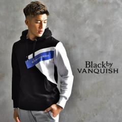 BLACK by VANQUISH ブラックバイバンキッシュ パーカー メンズ 上 スウェットパーカー 長袖パーカー プルパーカー プルオーバー オシャレ