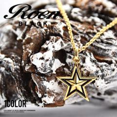 ROEN ロエン ネックレス メンズ ゴールド スター 星 チェーンネックレス ブラス アクセサリー ペンダント trend_d