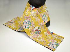 和柄ちりめんフリースマフラー日本製 レディースメンズ秋冬 おしゃれかわいい 暖かい軽いショールストール 和服着物にも(色124)