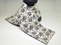 和柄ちりめんフリースマフラー日本製 レディースメンズ秋冬 おしゃれかわいい 暖かい軽いショールストール 和服着物にも(色315)