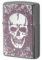 Zippo ジッポー ライター 200 Flat Bottom Metal Paint Plate 2MPP-Skull PK メール便可