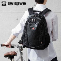 SWISSWIN リュック リュックサック ビジネスリュック メンズ SW6011V スイスウィン ブラック 撥水 PC対応 大容量 通勤 出張 旅行【送料無