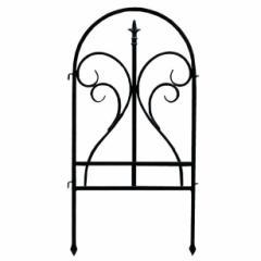 イージーフェンス フィニアル フェンス ゲート 扉 アイアン ガーデンフェンス ガーデニング 枠 柵 仕切り 目隠し(代引不可)