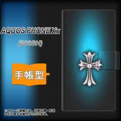 メール便送料無料SoftBank AQUOS PHONE Xx 302SH 手帳型スマホケース/レザー/ケース / カバー【334 クロスブルー】(アクオスフォンXx/302