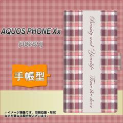 メール便送料無料SoftBank AQUOS PHONE Xx 302SH 手帳型スマホケース/レザー/ケース / カバー【518 チェック柄besuty】(アクオスフォンXx