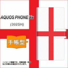 メール便送料無料SoftBank AQUOS PHONE Xx 302SH 手帳型スマホケース/レザー/ケース / カバー【677 イングランド】(アクオスフォンXx/302
