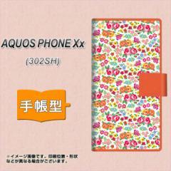 メール便送料無料SoftBank AQUOS PHONE Xx 302SH 手帳型スマホケース/レザー/ケース / カバー【777 マイクロリバティプリントWH】(アクオ