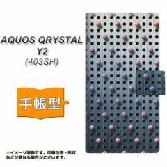 メール便送料無料 AQUOS CRYSTAL Y2 403SH 手帳型スマホケース 【 YA926 dot02 】横開き (アクオスクリスタル ワイツー 403SH/403SHY用/
