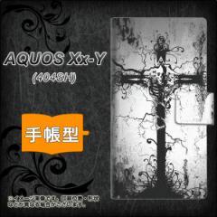 メール便送料無料 AQUOS Xx-Y 404SH 手帳型スマホケース 【 432 張付の骸 】横開き (アクオス ダブルエックス ワイ 404SH/404SHY用/スマ