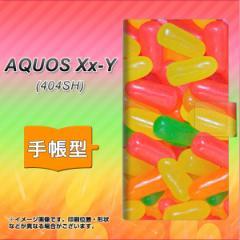メール便送料無料 AQUOS Xx-Y 404SH 手帳型スマホケース 【 449 ジェリービーンズ 】横開き (アクオス ダブルエックス ワイ 404SH/404SHY