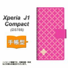 メール便送料無料 Xperia J1 Compact 手帳型スマホケース 【 IB901 クロスドット_ピンク 】横開き (エクスペリア J1 Compact/D5788用/ス