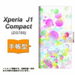 メール便送料無料 Xperia J1 Compact 手帳型スマホケース 【 YB823 バブル 】横開き (エクスペリア J1 Compact/D5788用/スマホケース/手