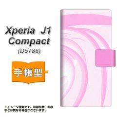 メール便送料無料 Xperia J1 Compact 手帳型スマホケース 【 YB863 うずまき 】横開き (エクスペリア J1 Compact/D5788用/スマホケース/