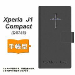 メール便送料無料 Xperia J1 Compact 手帳型スマホケース 【 YC913 クロスドラゴンs 】横開き (エクスペリア J1 Compact/D5788用/スマホ