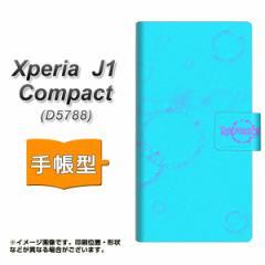 メール便送料無料 Xperia J1 Compact 手帳型スマホケース 【 YC953 バブルリング01 】横開き (エクスペリア J1 Compact/D5788用/スマホケ