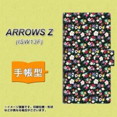 メール便送料無料au ARROWS Z ISW13F 手帳型スマホケース/レザー/ケース / カバー【778 マイクロリバティプリントBK】(アローズZ/スマホ