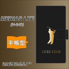 メール便送料無料docomo MEDIAS LTE N-04D 手帳型スマホケース/レザー/ケース / カバー【610 GOLFCLUB】(メディアスLTE/N04D/スマホケー