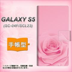 メール便送料無料 docomo GALAXY S5 SC-04F / SCL23  手帳型スマホケース/レザー/ケース / カバー【401 ピンクのバラ】(ギャラクシーS5/S