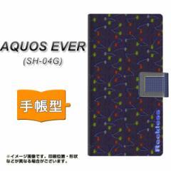 メール便送料無料 docomo AQUOS EVER SH-04G 手帳型スマホケース 【 YC845 絣02 】横開き (アクオス エバー/SH04G用/スマホケース/手帳式
