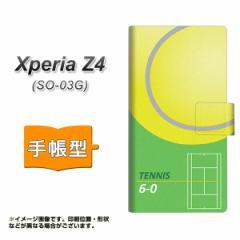 メール便送料無料 XPERIA Z4 SO-03G/SOV31/402SO 手帳型スマホケース 【 IB920 TENNIS 】横開き (エクスペリアZ4/SO-03G/SOV31/402SO 共