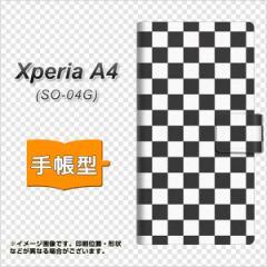 メール便送料無料 docomo XPERIA A4 SO-04G 手帳型スマホケース 【 151 フラッグチェック 】横開き (エクスペリアA4/SO04G用/スマホケー