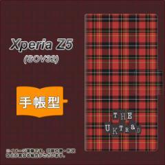 メール便送料無料 au Xperia Z5 SOV32 手帳型スマホケース 【 547 THEチェック 】横開き (エクスペリアZ5 SOV32/SOV32用/スマホケース/手