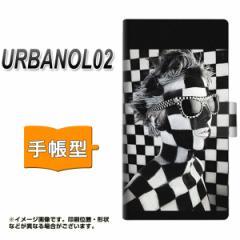 メール便送料無料 au URBANO L02 手帳型スマホケース/レザー/ケース / カバー【357 bk&wh】(アルバーノ/L02/スマホケース/手帳式)