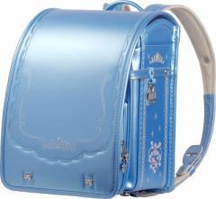 ランドセル フィットちゃん 女の子 2019継続 パールカラー リボンフラワー刺繍 パールサックス×青糸 A4フラットファイル対応 日本製