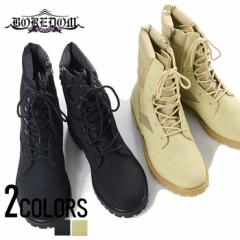 BOREDOM【ボアダム】サイドジップ コンバット ブーツ /全2色 trend_d メンズ ビター系