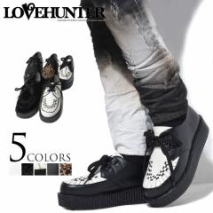 LOVE HUNTER【ラブハンター】厚底 ラバーソール シューズ /全5色 メンズ