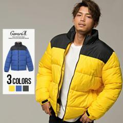 ジャケット メンズ 冬 中綿ジャケット CavariA キャバリア 切替 デザイン 全3色 即日発送 アウター ハイネック 立ち襟 大きいサイズ