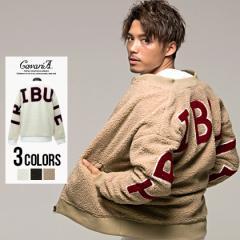 ブルゾン メンズ ボア アウター CavariA キャバリア シープボア バック 刺繍 全3色 即日発送 ビッグサイズ 大きいサイズ バックプリント