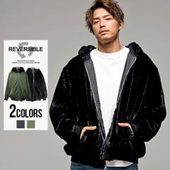 ma-1 メンズ アウター ジャケット リバーシブル CavariA キャバリア ファー ナイロン 全2色 即日発送 オーバーサイズ ブラック カーキ 黒