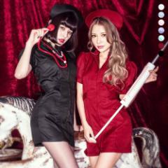 即日発送 costume コスチューム ナース 全7色 コスプレ ハロウィン ミニスカ エロい セクシー 可愛い パーティーグッズ コスチューム