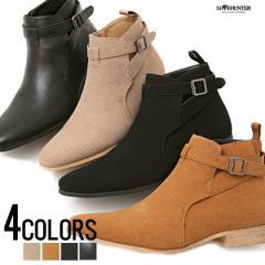 靴 ブーツ メンズ LOVE HUNTER ラブハンター サイドジップショートブーツ 即日発送 サイドジップ ショートブーツ ベルト ベルトヒール ス