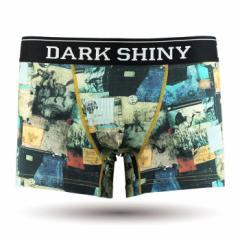 【お取り寄せ商品】DARK SHINY メンズ ボクサーパンツ Patchwork/全1色【ご注文から1週間〜10日前後】メンズ ビター系 (■)
