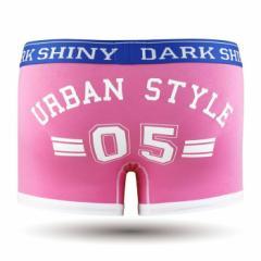 【お取り寄せ商品】DARK SHINY Mens Boxer Pants Lucky Number Aurora Pink/全1色【ご注文から1週間〜10日前後】メンズ (■)